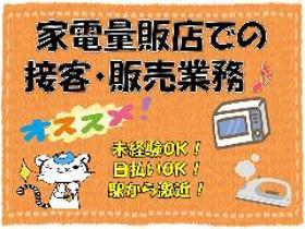家電販売(PCやカメラ家電の販売/9時45分~18時45分/週5~OK)