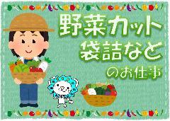 軽作業(長期、土日含むシフト制、野菜洗浄、袋詰め、カット等)