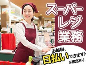 スーパー・デパ地下(接客・レジ/時給1125円/長期/車通勤可/シフト相談可)