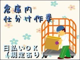 ピッキング(検品・梱包・仕分け)(仕分け 検品 13時~18時30分 週5日 土日休み)
