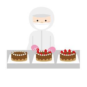 食品製造スタッフ(1060円/盛付だけ/トッピングだけ/ケーキ製造/土日祝休み)
