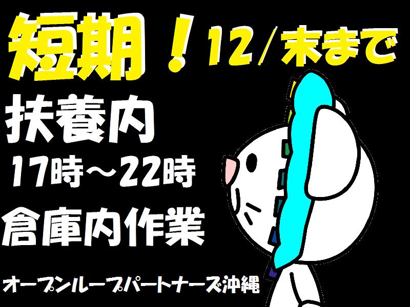 ピッキング(検品・梱包・仕分け)(倉庫仕分/短期/17-22時/11月20日~12月末迄)