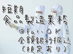 食品製造スタッフ(1ヶ月~OK 9時~18時 週3~5日 コンビニ商品製造)