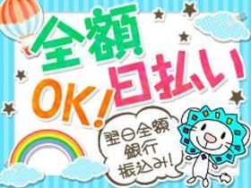 ピッキング(検品・梱包・仕分け)(日用品ピッキング/9-17時、週5日、全額日払い)
