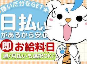 ピッキング(検品・梱包・仕分け)(お菓子の検品/22-8時、6/20まで短、急募、日払、週4~)