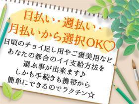 接客サービス(カード案内/日払いOK/2か月短期/週2日~/時給1600)