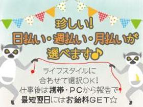 ピッキング(検品・梱包・仕分け)(お煎餅のチェック/平日週3日~、時給1200、16時定時)