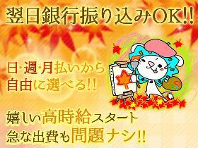 軽作業(袋詰作業/20:30-06:30(休憩2H)、平日のみ、日払)