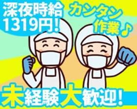 軽作業(夜勤◆平日週5日・22時~6:20|洋菓子・パンのライン製造)