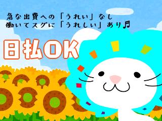 ピッキング(検品・梱包・仕分け)(商品シール貼り/日払OK 高時給 水・日固定休 19-28時)